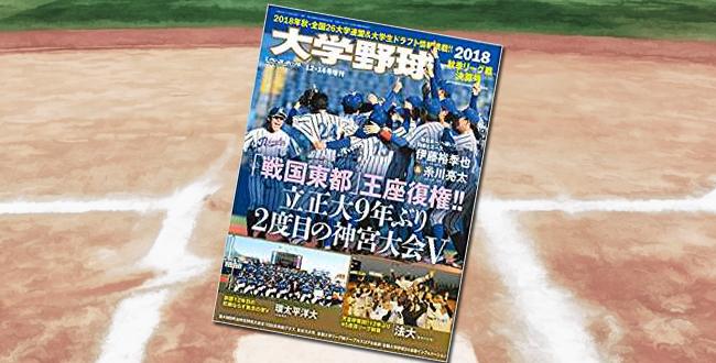 「大学野球 2018秋季リーグ戦決算号」
